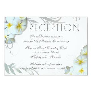 Plumeria Flourish Reception Venue Enclosure Card
