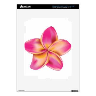 Plumeria flower 2 skins for iPad 3