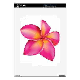 Plumeria flower decals for iPad 2