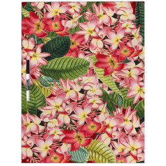Plumeria Flower Floral Islands Dry Erase Board