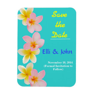 Plumeria Flower Save the Date Photo Magnet