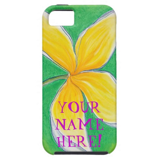 Plumeria Flower/Your Name Here! iPhone 5 Covers