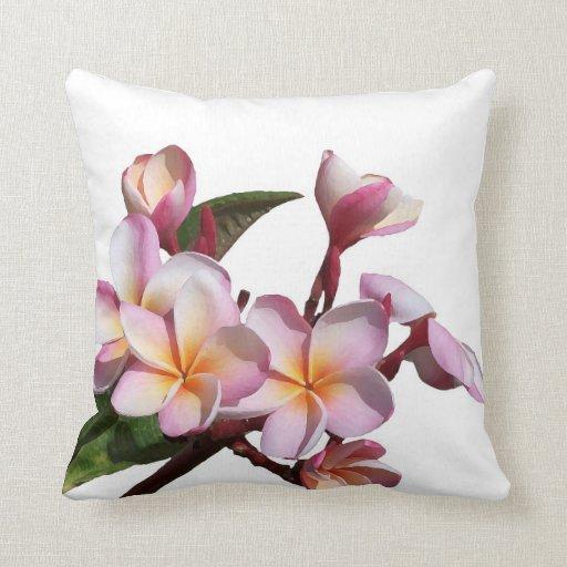 Plumeria Flowers American MoJo Pillow