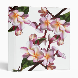 Plumeria Flowers Avery Binder