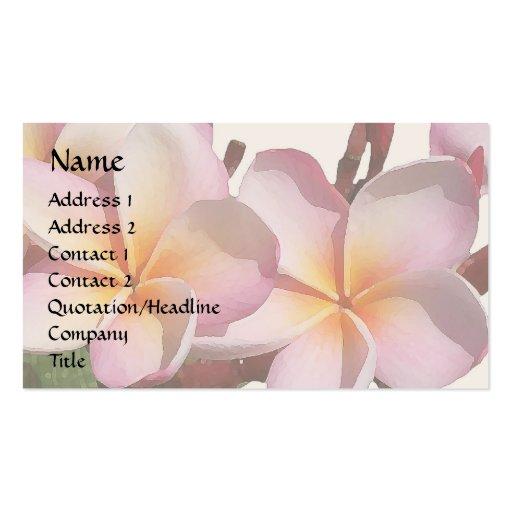 Plumeria Flowers Business Card