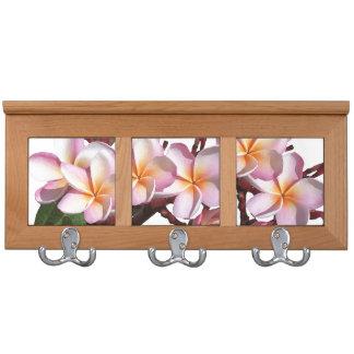 Plumeria Flowers Coat Rack
