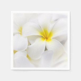 Hawaiian flower napkins zazzle plumeria flowers hawaiian frangipani floral flower paper napkin mightylinksfo