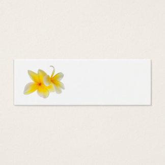 Plumeria Flowers Hawaiian White Yellow Frangipani Mini Business Card