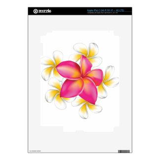 Plumeria flowers iPad 3 skin
