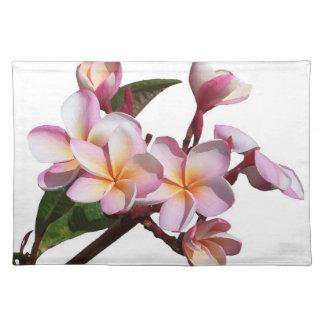 Plumeria Flowers Placemat Cloth Placemat
