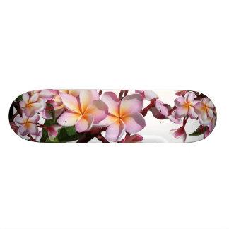 Plumeria Flowers Skateboard