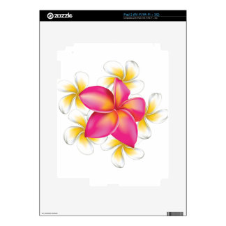 Plumeria flowers skin for iPad 2