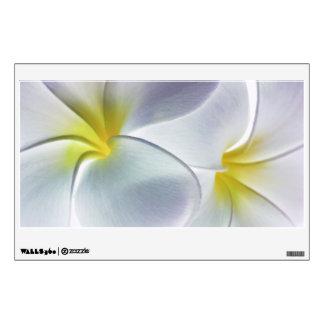 Plumeria Frangipani Hawaii Flower Customized Blank Room Stickers