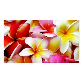 Plumeria Frangipani Hawaii Flower Customized Business Card Templates