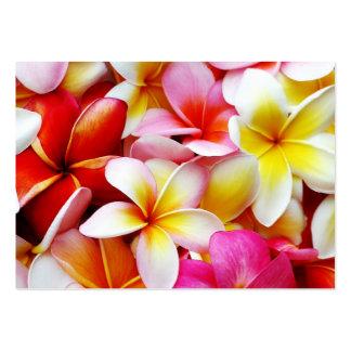 Plumeria Frangipani Hawaii Flower Customized Business Cards
