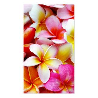 Plumeria Frangipani Hawaii Flower Customized Business Card Template