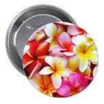 Plumeria Frangipani Hawaii Flower Customized Pinback Button