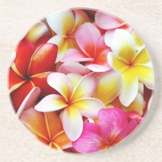 Plumeria Frangipani Hawaii Flower Customized Drink Coaster