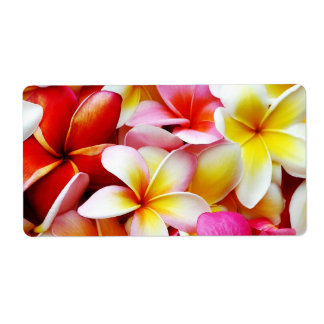 Plumeria Frangipani Hawaii Flower Customized Label