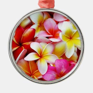 Plumeria Frangipani Hawaii Flower Customized Metal Ornament