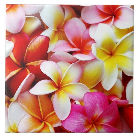 Plumeria Frangipani Hawaii Flower Customized Tile