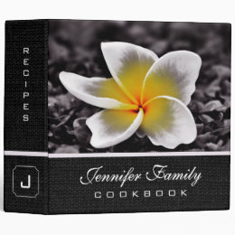 Plumeria Frangipani Hawaii Flower Family Recipes 3 Ring Binder