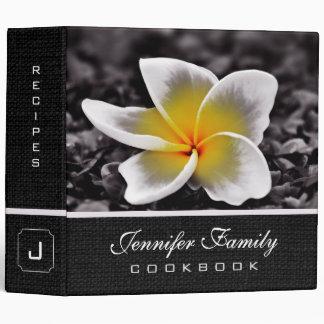 Plumeria Frangipani Hawaii Flower Family Recipes 3 Ring Binder