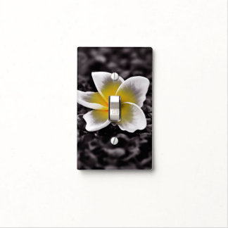 Plumeria Frangipani Hawaii Flower Light Switch Cover