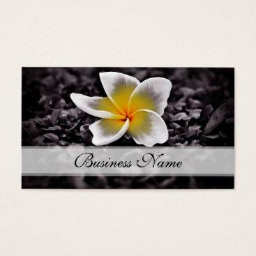 Hawaiian Themed Plumeria Frangipani Hawaii Flowers Business Card