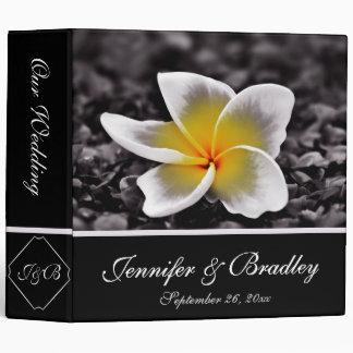 Plumeria Frangipani Hawaii Flowers Wedding 3 Ring Binder