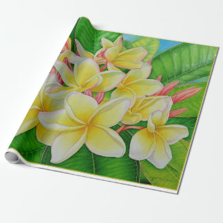 Plumeria hawaiano papel de regalo