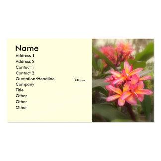 Plumeria hawaiano tarjetas de visita