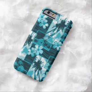Plumeria hawaiano y palmera de la isla de Niihau Funda Para iPhone 6 Barely There