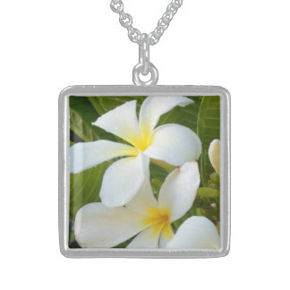 Plumeria Hawaii Sterling Silver Necklace