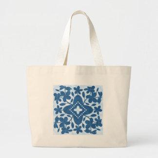 Plumeria Hawaiian Quilt Block Tote Bags