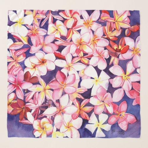 Plumeria Hawaiian Sarong  Scarf