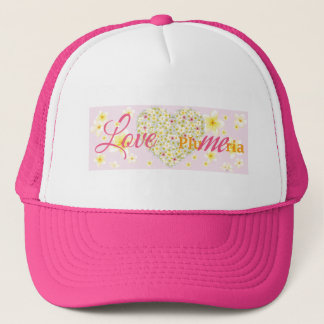 Plumeria Heart  Love Me Trucker Hat