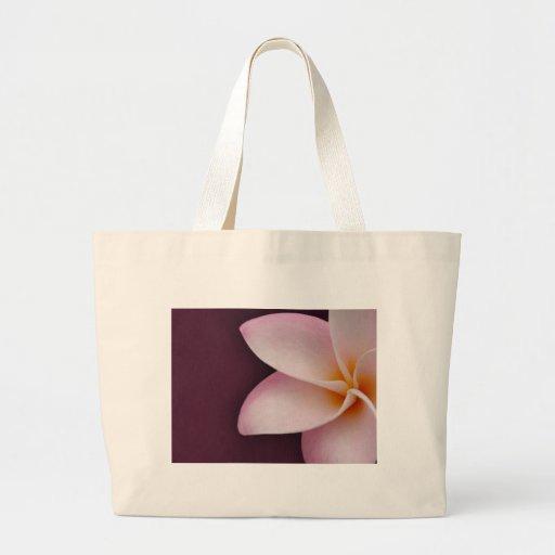 Plumeria in pink jumbo tote bag
