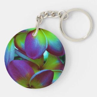 plumeria key chain