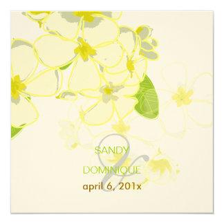 Plumeria Leis destination wedding 5.25x5.25 Square Paper Invitation Card