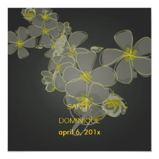 Plumeria Leis / luau 5.25x5.25 Square Paper Invitation Card