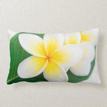 Beach Themed plumeria lumbar pillow