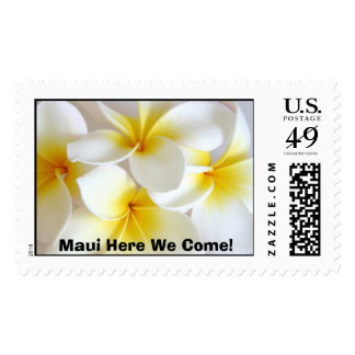 plumeria, Maui Here We Come! Postage