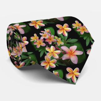 Plumeria Neck Tie