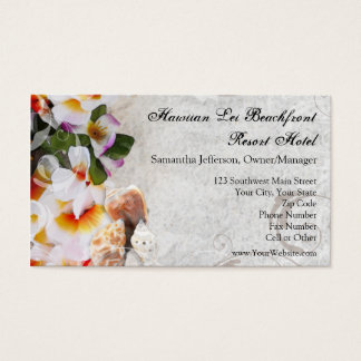 Plumeria Orchid Lei Business Cards