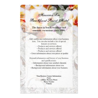 Plumeria Wedding Invitations on Wedding Invitation Set
