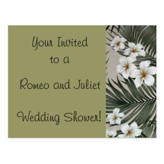 Plumeria-Palm-Cream.jpg, Romeo and Juliet , Wed... Postcard