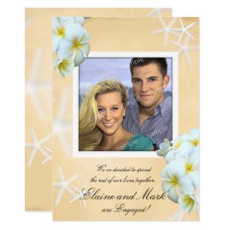Plumeria Photo Engagement Notice Card