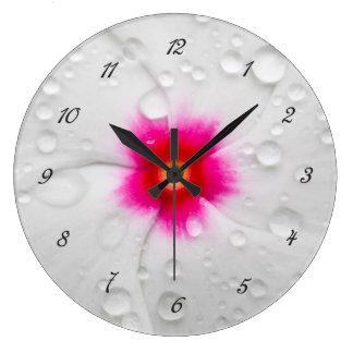 Plumeria Round Wall Clock