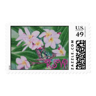 Plumeria RSVP Postage Stamp